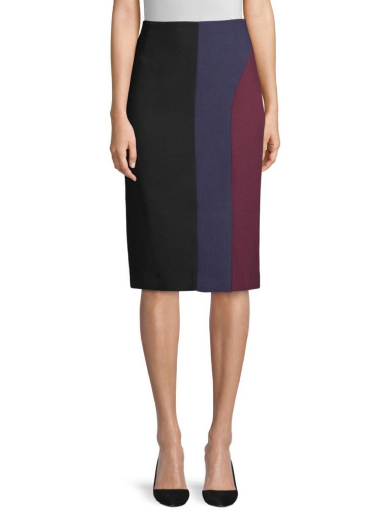 BOSS Colorblock Ponte Skirt