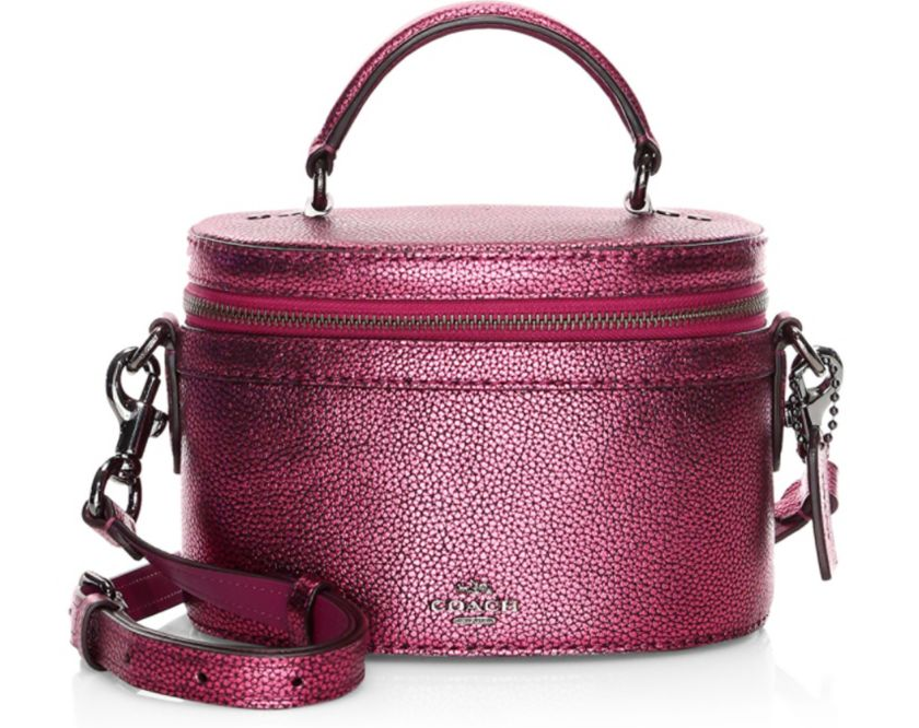 Coach Metallic Leather Trail Bag