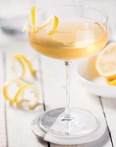 Between the Sheets Cognac/Rum Cocktail