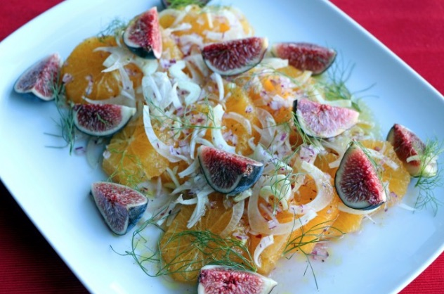 Fig Fennel Orange salad
