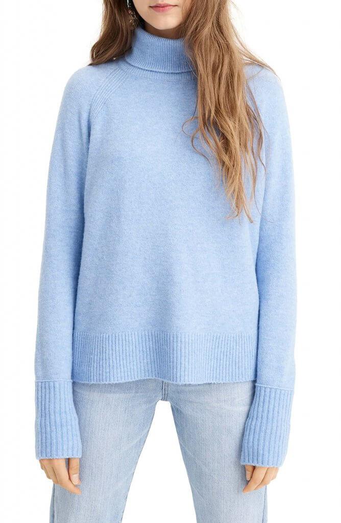 JCrew Side Slit Supersoft Turtleneck Sweater