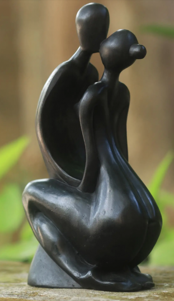 Novica Eternal Kiss Statuette
