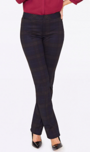 NYDJ Slim Plaid Ponte pant or treggings