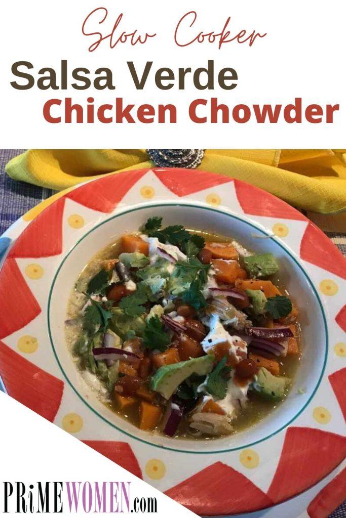 Slow Cooker Salsa Verde Chicken Chowder Recipe