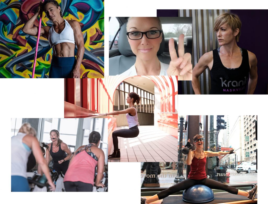 female trainers over 40 collage