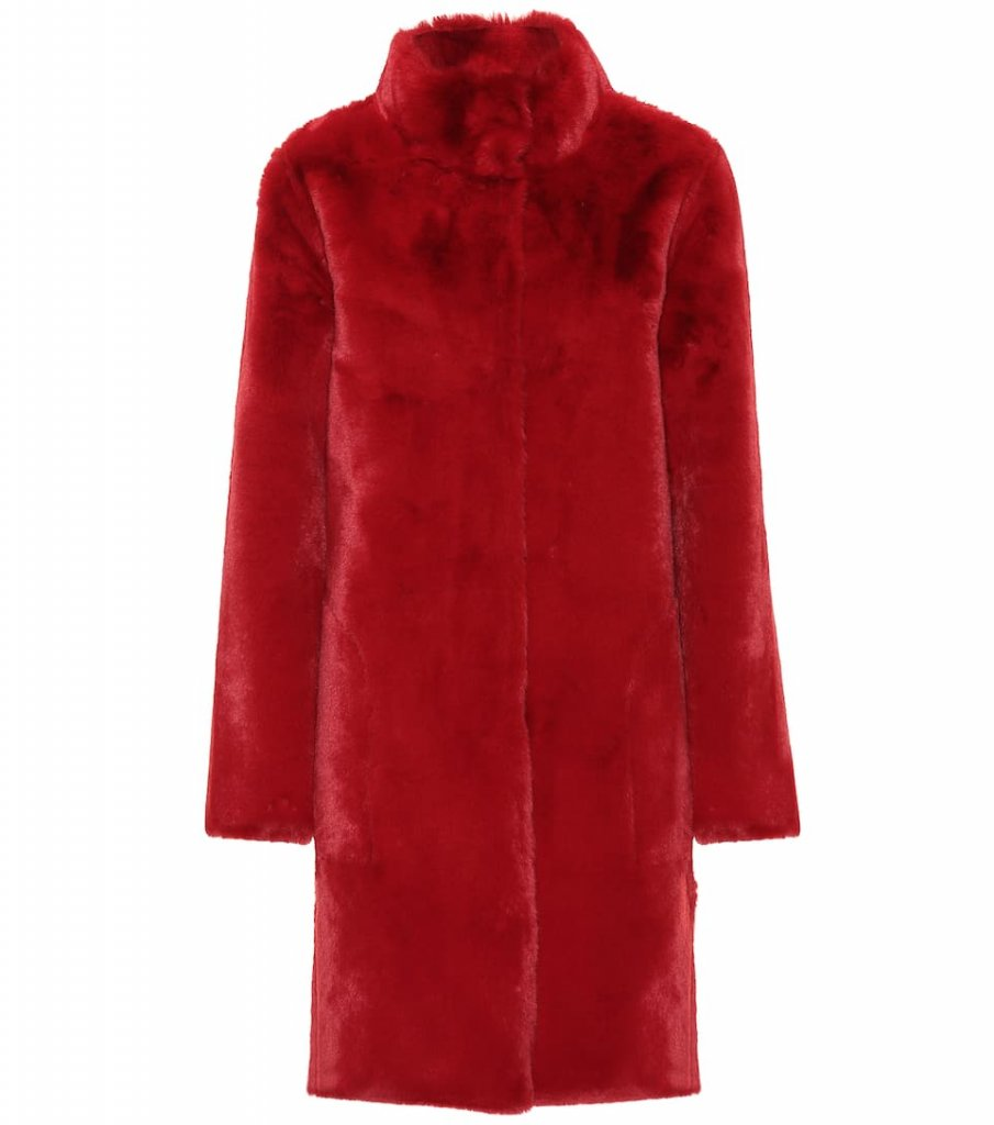 Velvet Mina faux fur reversible coat