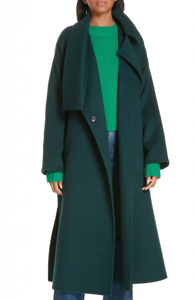 Vince Belted Wool Blend Cozy Coat