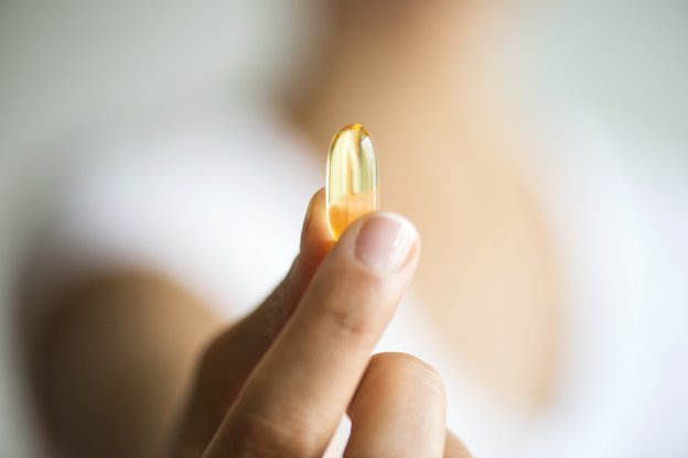Woman with Multivitamin