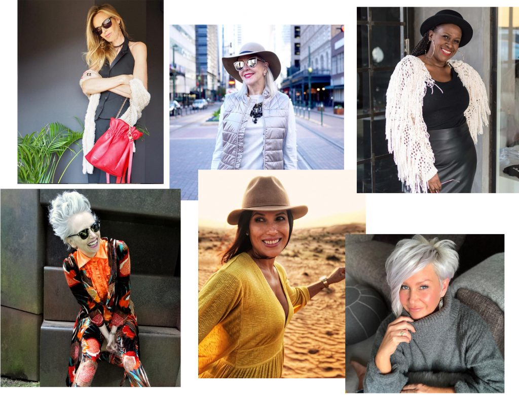 fashion over 40 instagram influencers collage