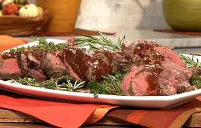 herb crusted bison