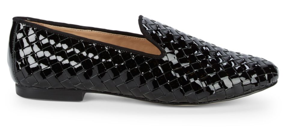 AVA & AIDEN Woven Patent Leather Loafers