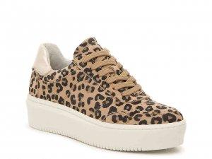 Bullboxer platform leopard print sneaker