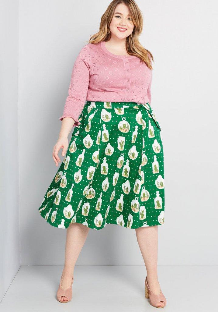 Collectif x MC Novel Niceties Midi Skirt