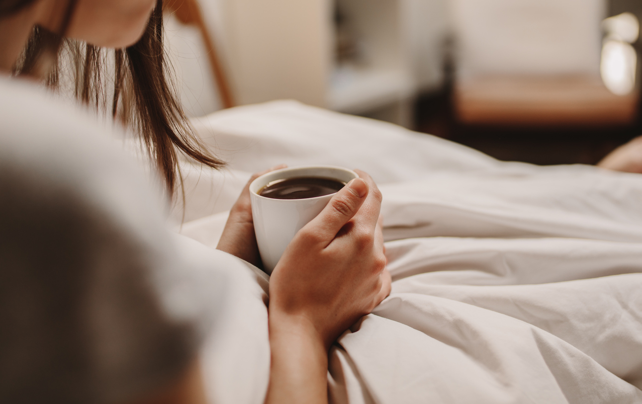 Drinking Coffee in Bed