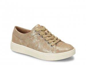 gold metallic platform sneaker