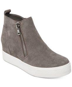 Grey Steve Madden Wedgie Sneakers