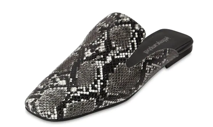 Jeffrey Campbell Snake Print Leather Mules