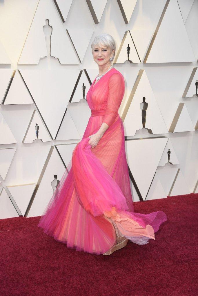 RedCarpet-Oscars-Dame Helen Mirren in Schiaparelli Haute Couture