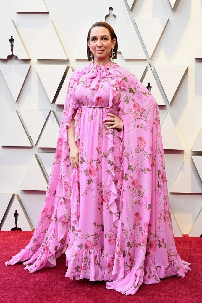 RedCarpet-Oscars-Maya Rudolph in a Giambattista Valli gown