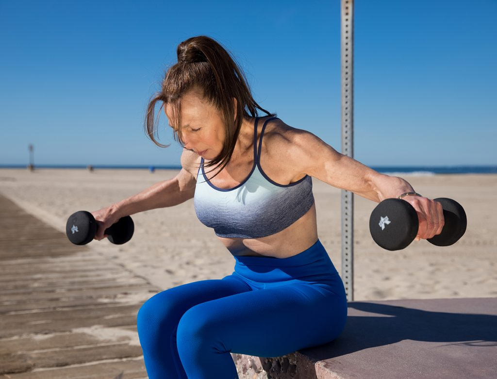 SHOULDERS bent-over rear delt fly - great deltoid exercise for women
