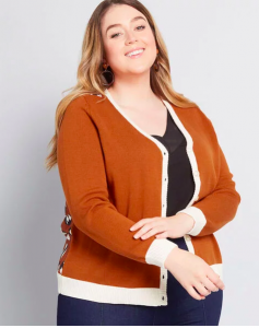 Mod Cloth Cardigan in Plus Size for Women