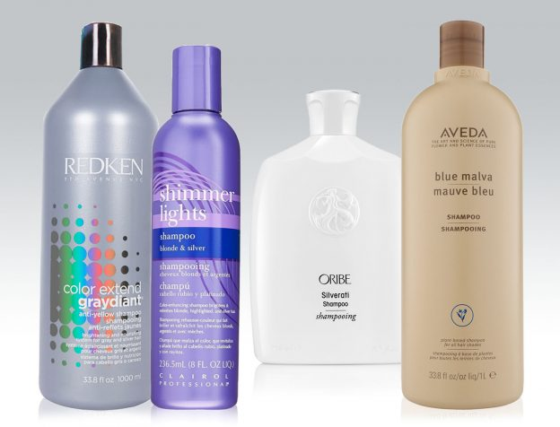shampoos for gray hair collage