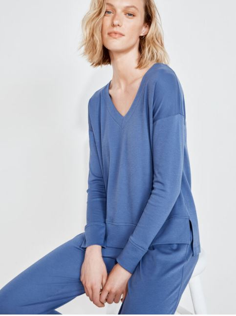 Talbots Organic Cotton V-Neck Top and Bottoms