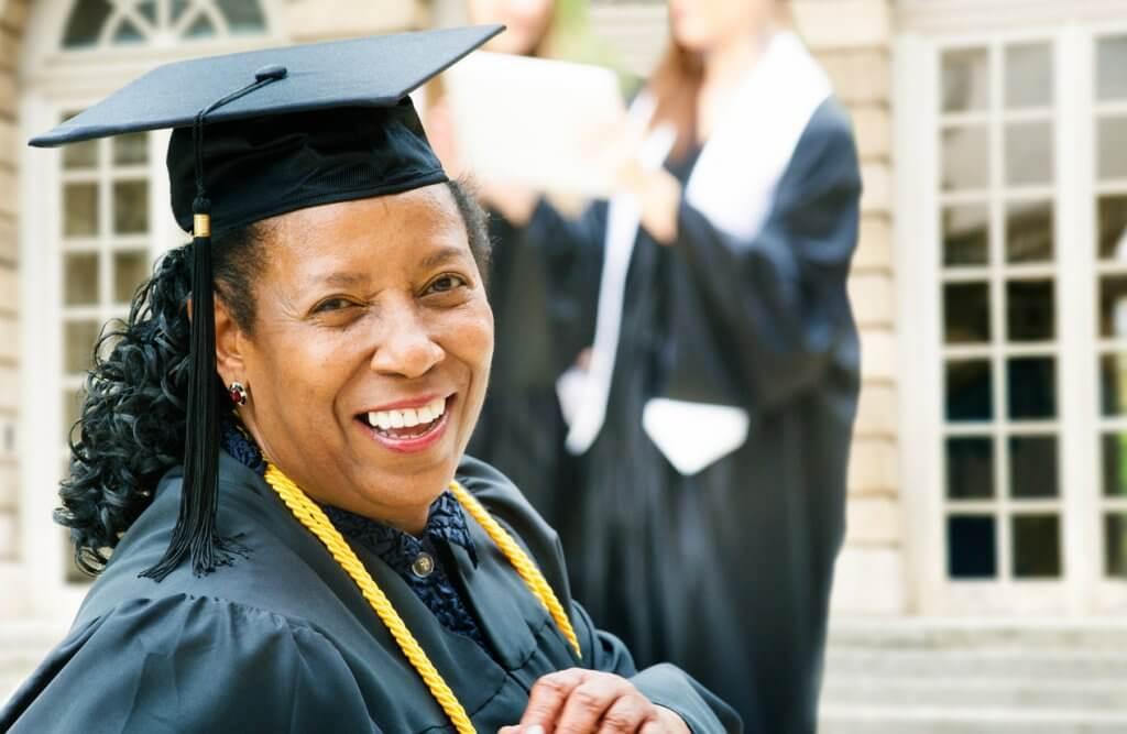 Woman Getting Diploma