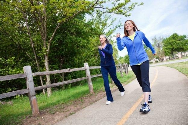 Women Walking using HIIT