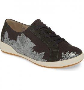 black floral sneaker