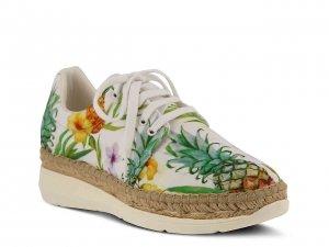 Azura Wedge Espadrille Sneaker Tropical Print