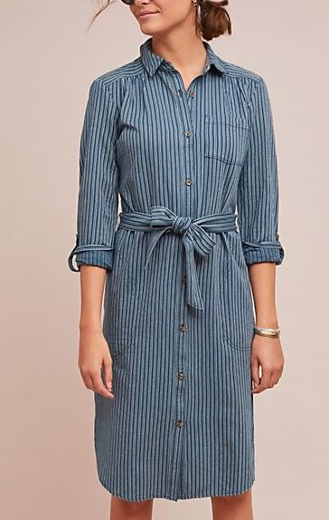 Anthropologie Bellamy Striped Shirtdress