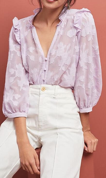 Anthropologie Mallory Lace Blouse