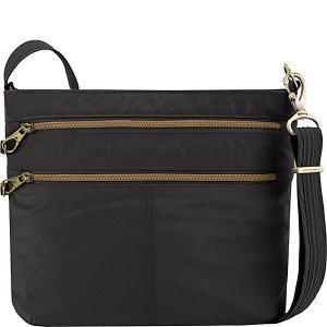 Anti-Theft Signature Double Zip Crossbody Bag