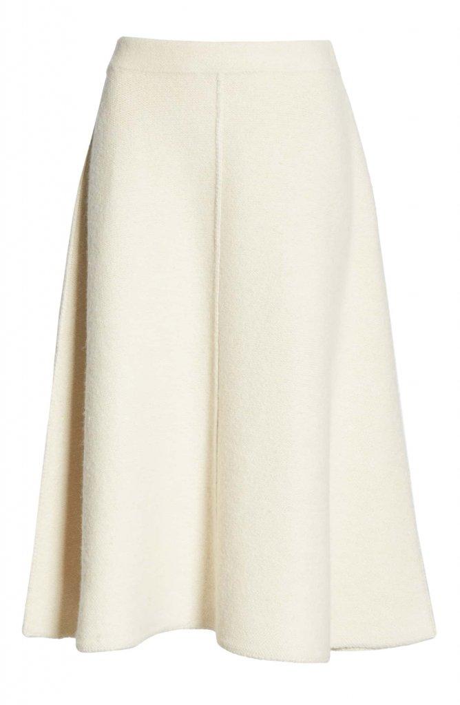 CO A-Line Alpaca & Wool Skirt