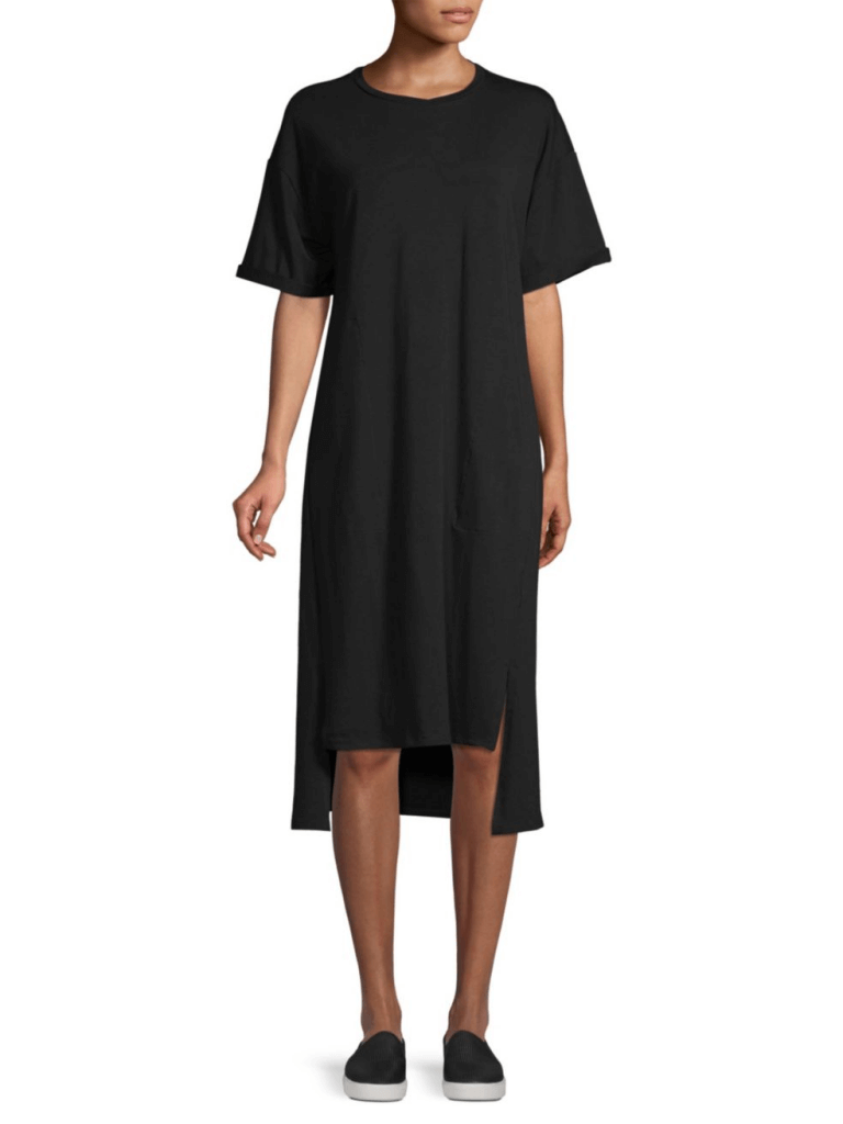 Eileen Fisher Stretch Organic Cotton Tee Dress