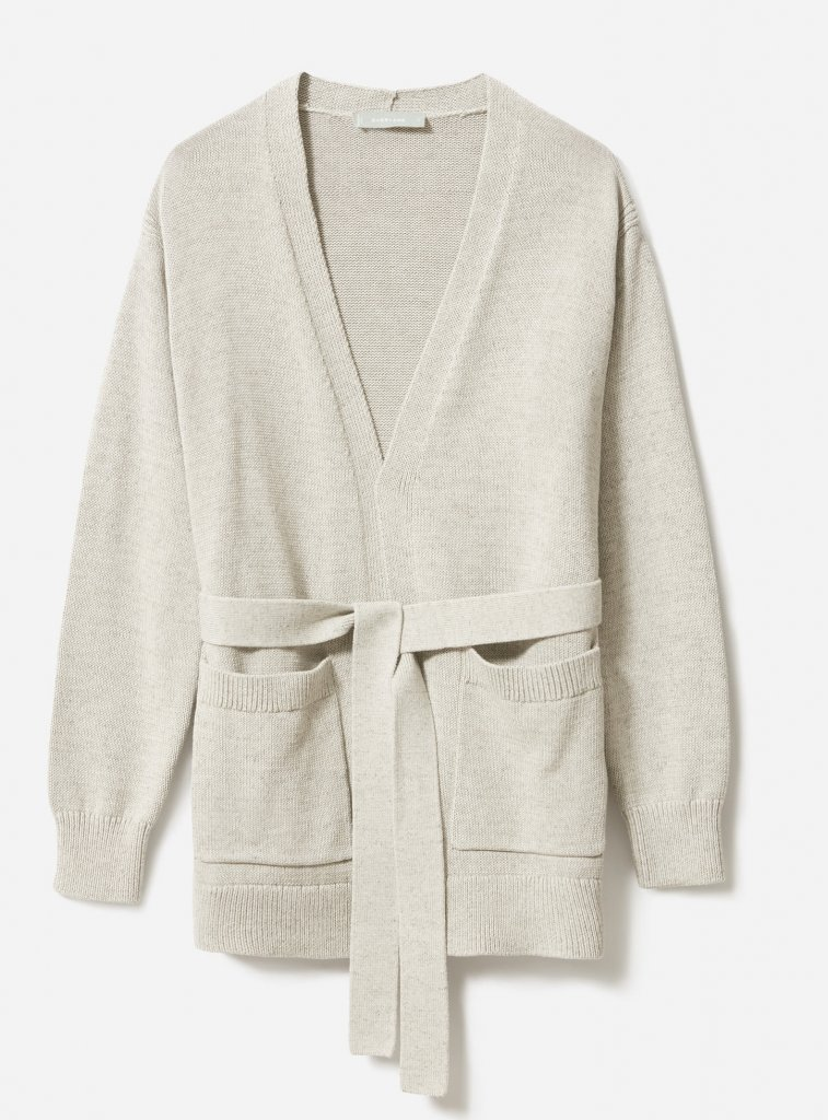 Everlane Soft Cotton Wrap Cardigan