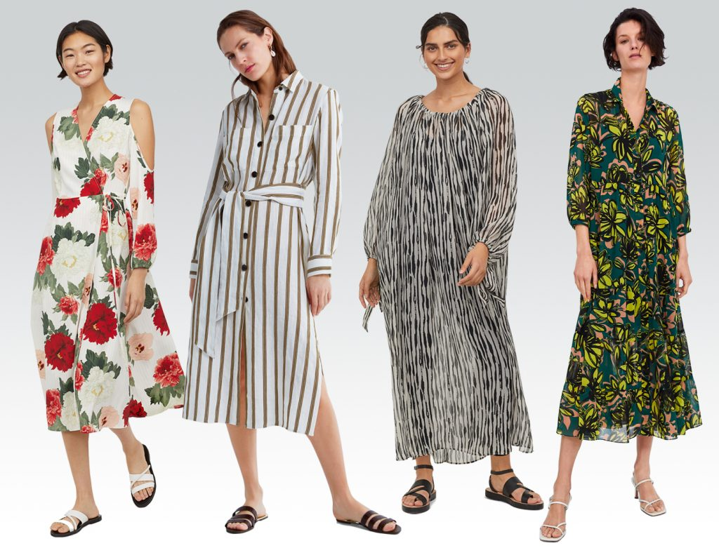 spring dresses from H&M and Zara