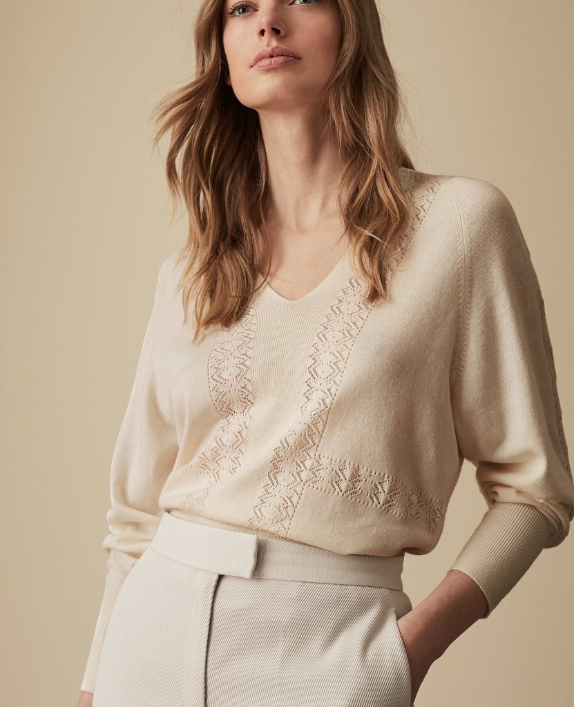 Sweaters:Lilian V-Neck Sweater, $245Inari, Pointelle Detailed Jumper, $240https://fave.co/2C4m86pEverlane, Cashmere Wrap Sweater, $120https://fave.co/2SMqhS0Everlane, Soft Cotton Square Crew, $68https://fave.co/2Tj7eDJEverlane, Soft Cotton Wrap Cardigan, $75https://fave.co/2SISlFMTops:Eileen Fisher, Silk Crepe Bateau Neck Shell, $218https://fave.co/2Tj7oejVince, Silk-Satin Pajama Popover, $345https://fave.co/2TglrBzSkirts:CO A-Line Alpaca & Wool Skirt, $875https://fave.co/2ES1fgqAkris punto Belted Cotton A-Line Skirt, $495https://fave.co/2ERuYWJ& Other Stories Stretch Cotton Pencil Skirt, $79https://fave.co/2VFYap9pants:Lafayette 148 New York, Acclaimed Stretch Gramercy Pants, $398https://fave.co/2SJ73MJEsme, Pleat Front Tapered Trousers, $265https://fave.co/2NMIuO4Shoes:Eileen Fisher, Billie Bootie, $250https://fave.co/2UgbmkwEverlane, Day Heel, $145https://fave.co/2Tf03fLEverlane, Modern Loafer, $168https://fave.co/2Td6YWWJackets:LaMarque Waterfall Leather Jacket, $495https://fave.co/2NKS3gCParadised Beach Explorer Jacket, $395https://fave.co/2VFJzKvScarf:Sass, Lambswool Cashmere Blend Scarf, $160https://fave.co/2C2TS40Bags:Gigi New York, Zip Taylor Embossed Python Tote, $320https://fave.co/2BZxZlRDagne Dover, Large Allyn Leather Tote, $345https://fave.co/2TbE4X4Watch:Henry London, tainless Steel Bracelet Watch, $174https://fave.co/2UlBKcvNecklace:Artisan & Fox, Juma Drop Necklace, $77https://fave.co/2UlC9vxEarrings:Farra, Rectangular & Round Freshwater Pearls Drop Earrings, $120https://fave.co/2UrRgnaHat:Ava, Felt Fedora, $120https://fave.co/2ThW7Lt