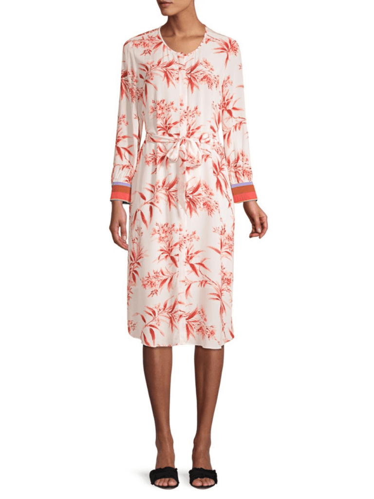 Joie Jeanee Floral Tie-Waist Dress