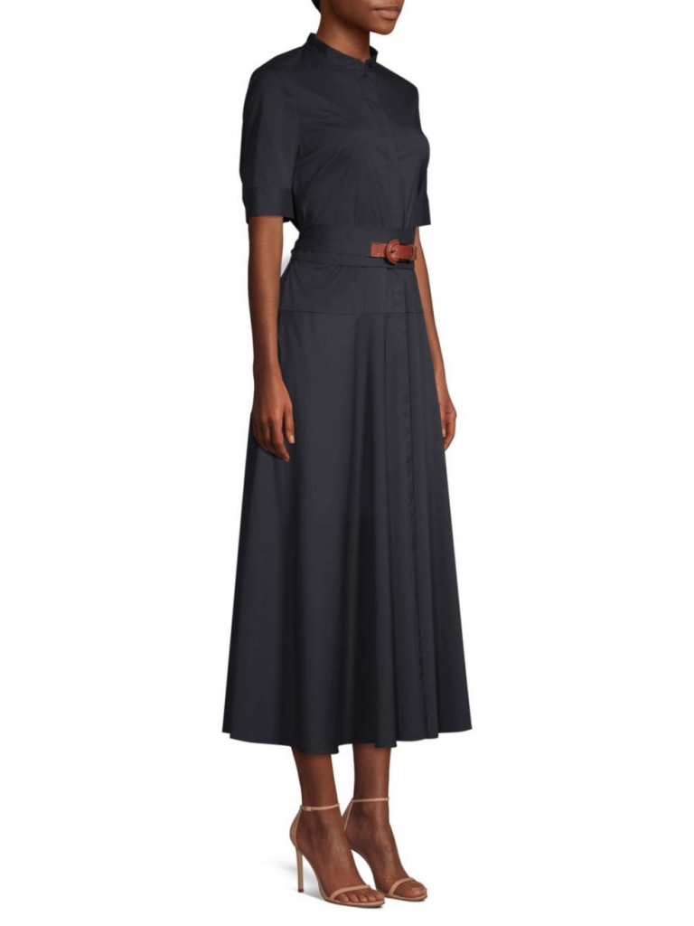 Lafayette 148 New York Augustina Belted Stretch-Cotton Shirtdress