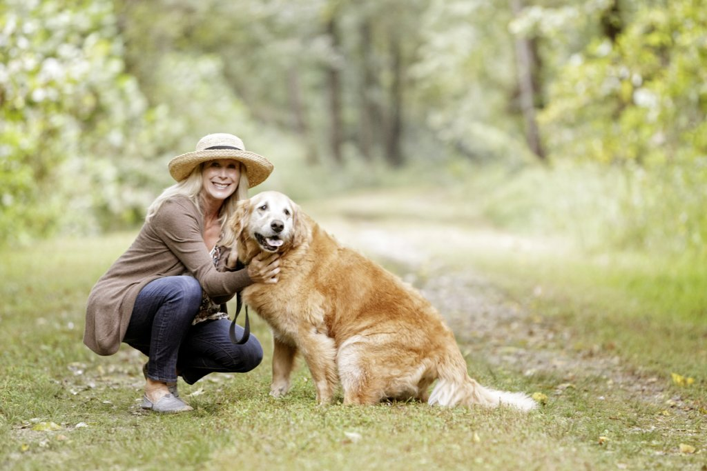 Mature Woman with Dog