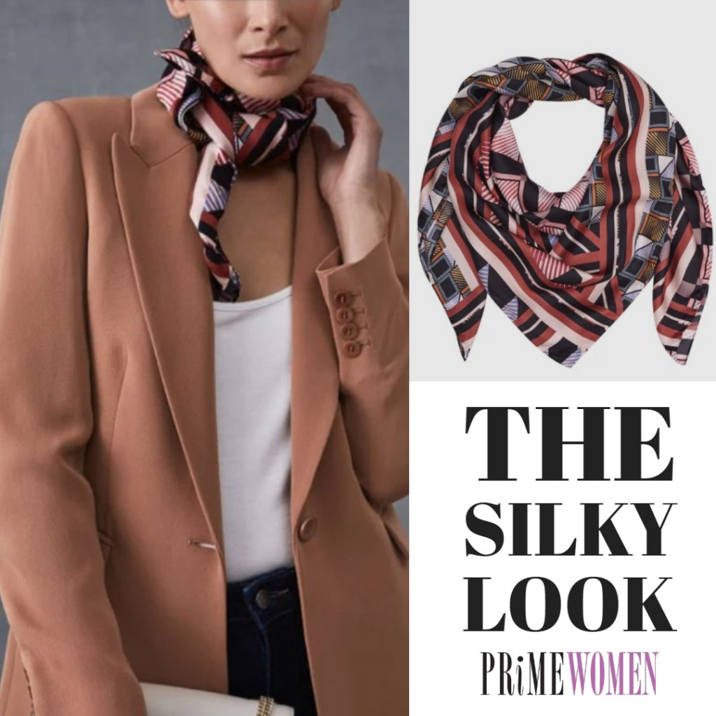Silk Scarf for women over 50