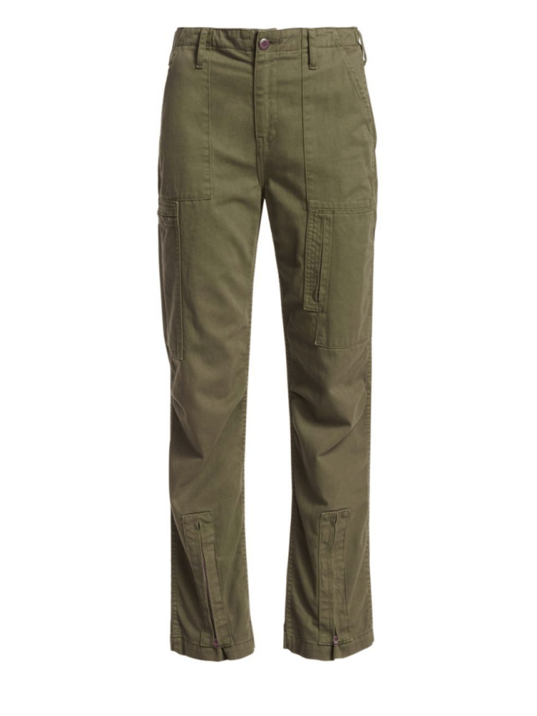 Re-Done High-Rise Cargo Twill Pants