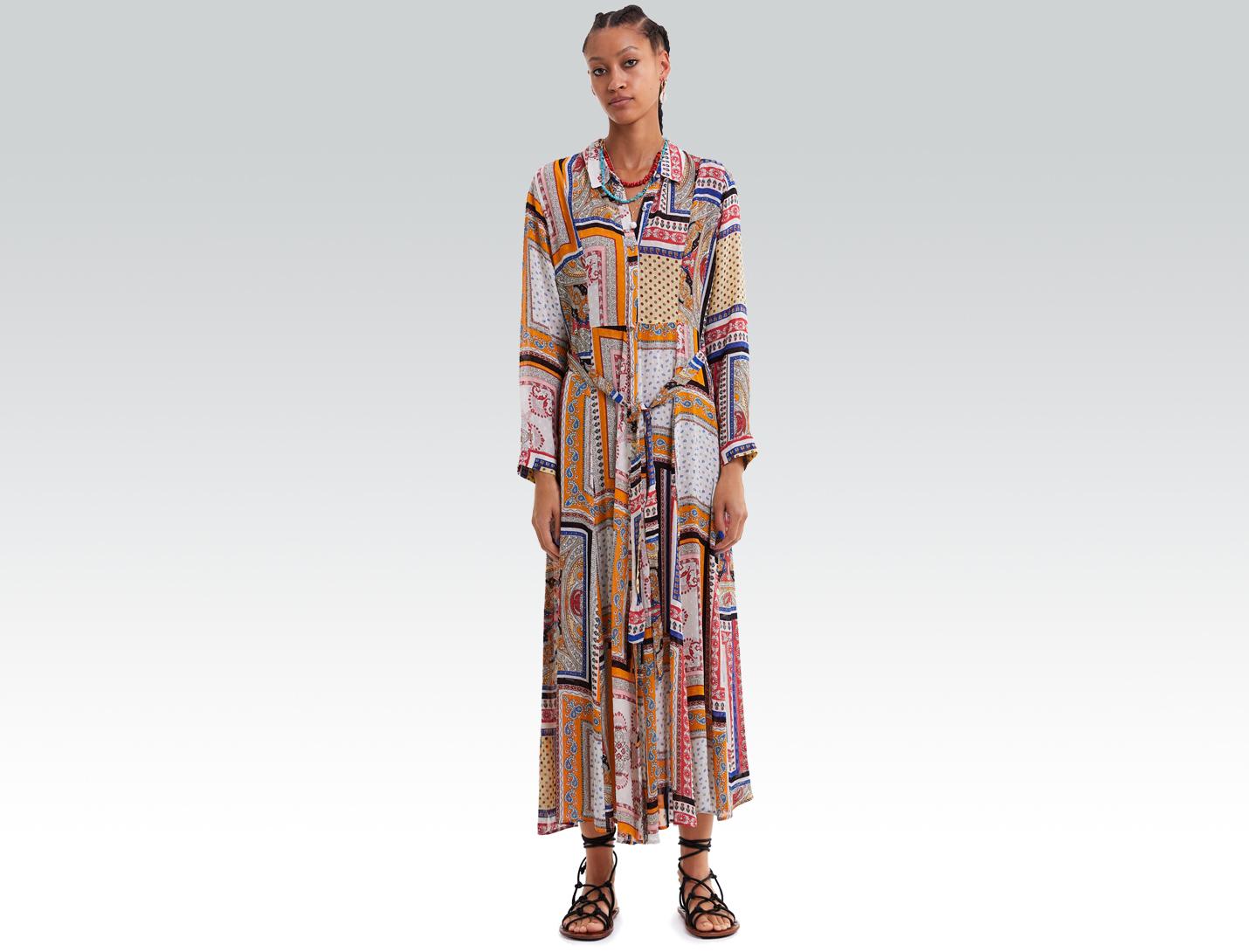 printed zara dress