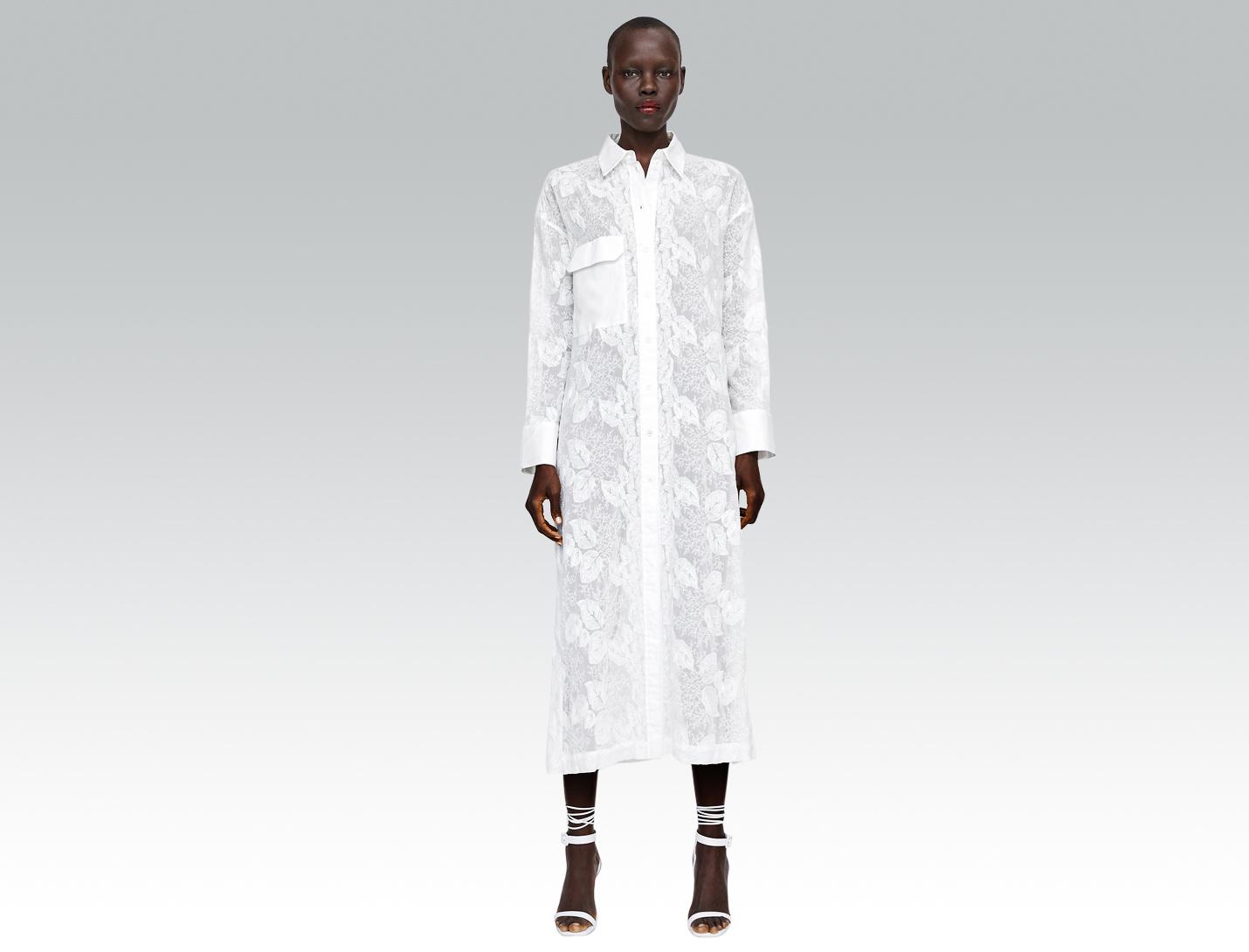white dress from zara