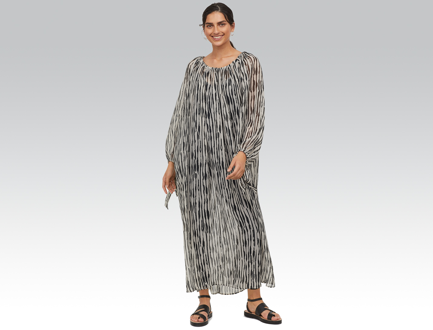 crinkled maxi dress