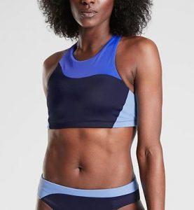 Freestyle Colorblock High Neck Bikini Top