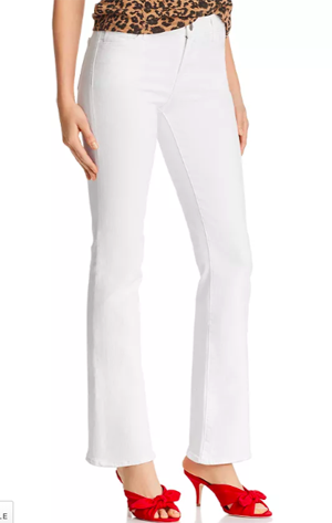 J Brand Midrise bootcut white jeans for women