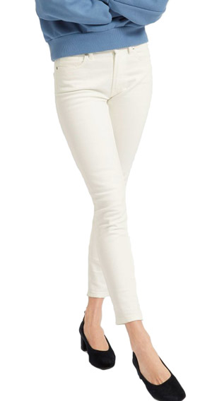 Everlane White Jeans for Women skinny stretch ankle, long or tall lengths